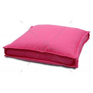 Μαξιλάρα δαπέδου Ροζ με διακοσμητική ραφή