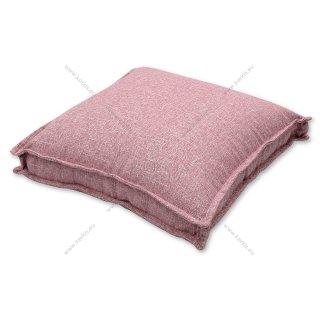 Μαξιλάρα δαπέδου με διακοσμητική ραφή Ροζ - ROM