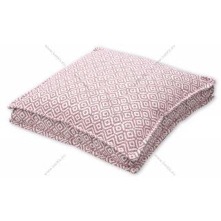 Μαξιλάρα δαπέδου ροζ ρόμβος με διακοσμητική ραφή