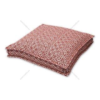Μαξιλάρα δαπέδου κόκκινος ρόμβος με διακοσμητική ραφή
