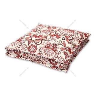 Μαξιλάρα δαπέδου floral κόκκινη με διακοσμητική ραφή