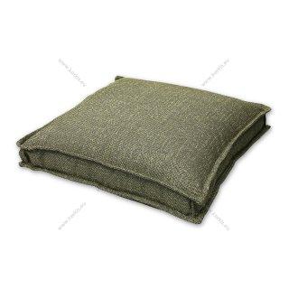 Μαξιλάρα δαπέδου πράσινη ψάθα με διακοσμητική ραφή