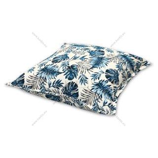 Μαξιλάρα δαπέδου μπλε floral