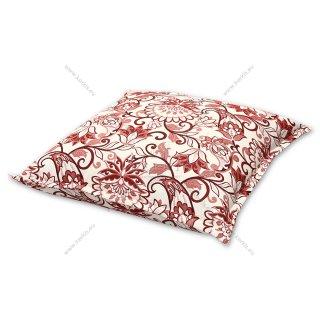 Μαξιλάρα δαπέδου floral κόκκινη