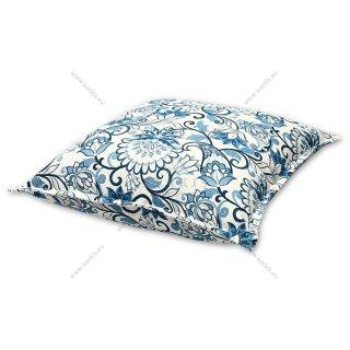 Μαξιλάρα δαπέδου floral μπλε