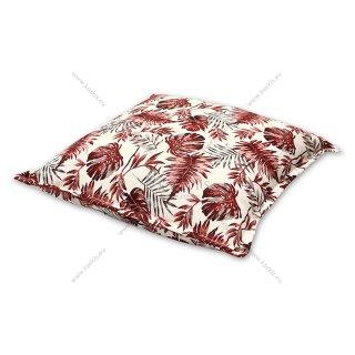 Μαξιλάρα δαπέδου κόκκινη floral