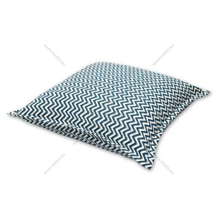 Μαξιλάρα δαπέδου σε χρώμα μπλε ζικ-ζακ