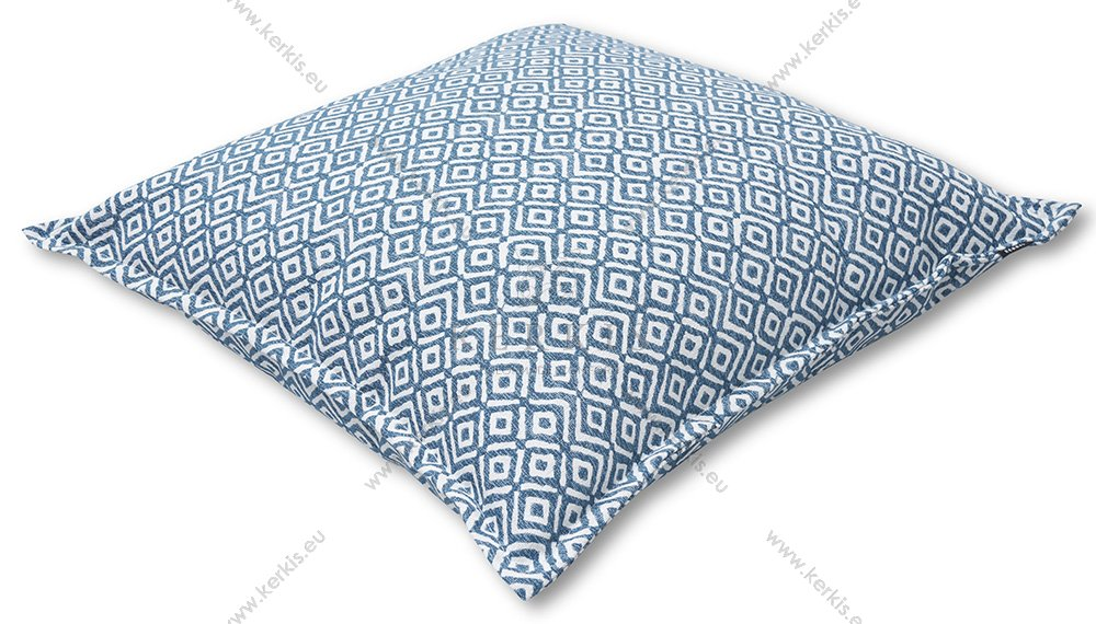 Μαξιλάρα δαπέδου ρόμβος μπλε
