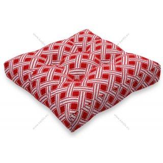 Μαξιλάρι με διακοσμητικά κουμπιά μοτίβο κόκκινους ρόμβους
