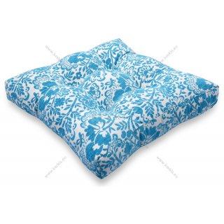 Μαξιλάρι με διακοσμητικά κουμπιά μοτίβο τυρκουάζ