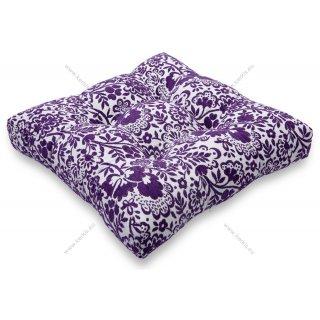 Μαξιλάρι με διακοσμητικά κουμπιά μοτίβο μωβ