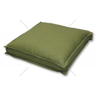 Μαξιλάρα δαπέδου Πράσινη με διακοσμητική ραφή