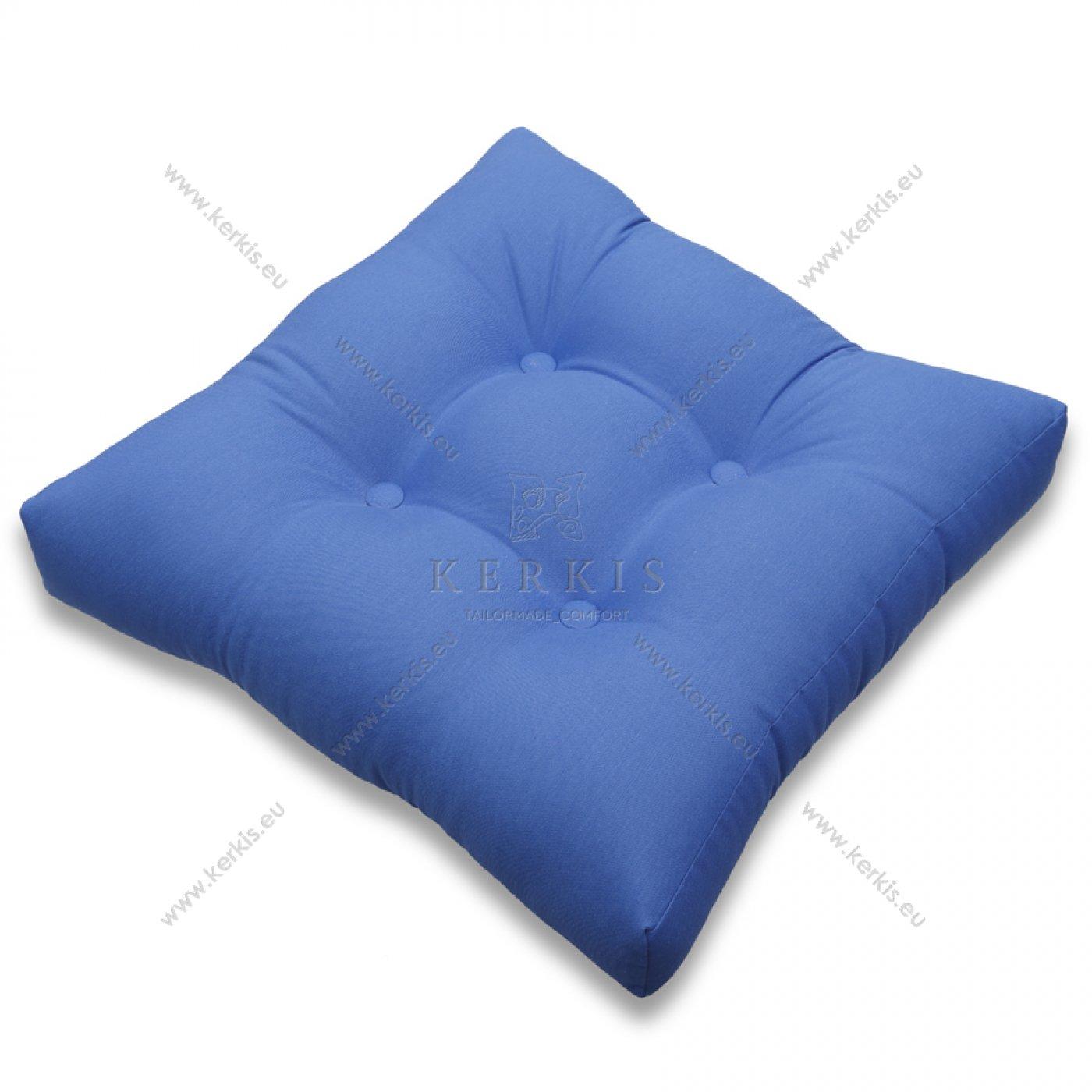 Μαξιλάρι με διακοσμητικά κουμπιά μπλε