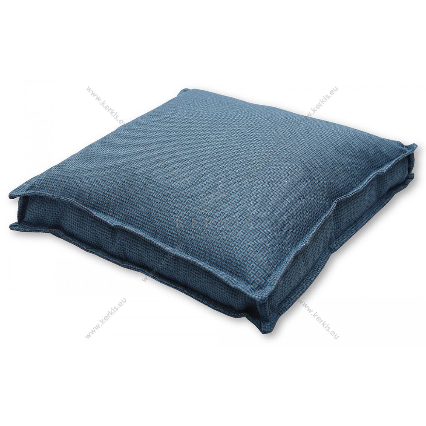 Μαξιλάρα δαπέδου Pied de poul μπλε