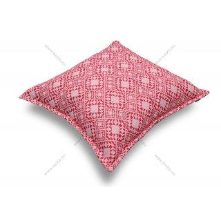 Μαξιλάρα δαπέδου φάκελος με Κόκκινα γεωμετρικά σχέδια
