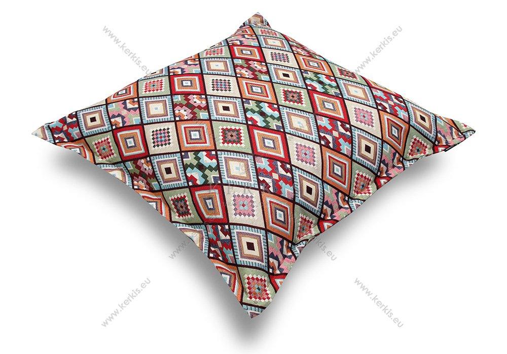 Μαξιλάρα δαπέδου φάκελος με σχέδια Κόκκινα