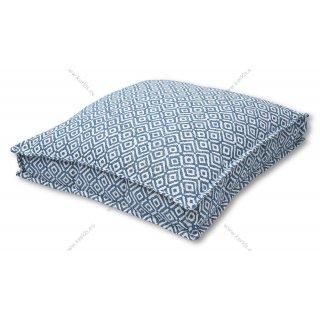Μαξιλάρα δαπέδου μπλε ρόμβος