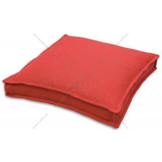 Μαξιλάρα δαπέδου Κόκκινη με διακοσμητική ραφή
