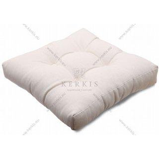 Μαξιλάρι με διακοσμητικά κουμπιά λευκό