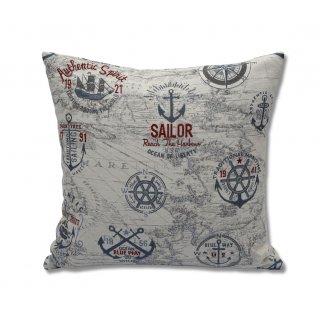 Μαξιλάρι διακοσμητικό με ναυτικά σχέδια