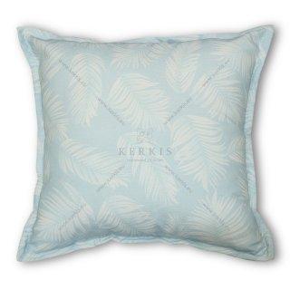 Μαξιλάρι διακοσμητικό, χρώμα γαλάζιο, φύλλα