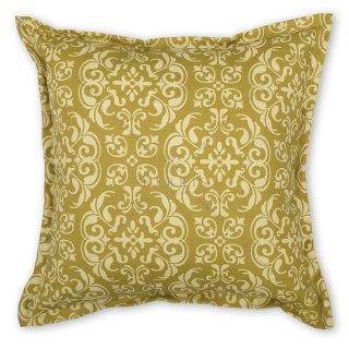 Μαξιλάρι καναπέ διακοσμητικό σε χρώμα μουσταρδί με λαχούρια