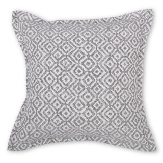 Μαξιλάρι καναπέ διακοσμητικό γκρι ρόμβος