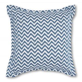 Μαξιλάρι καναπέ διακοσμητικό Μπλε ζικ-ζακ
