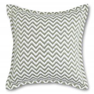 Διακοσμητικό μαξιλάρι καναπέ, χρώμα πράσινο, ζικ-ζακ