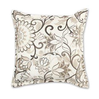 Διακοσμητικό μαξιλάρι καναπέ, χρώμα μπεζ, λουλούδι