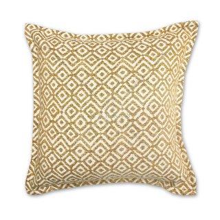 Διακοσμητικό μαξιλάρι καναπέ, χρώμα κίτρινο, ρόμβος