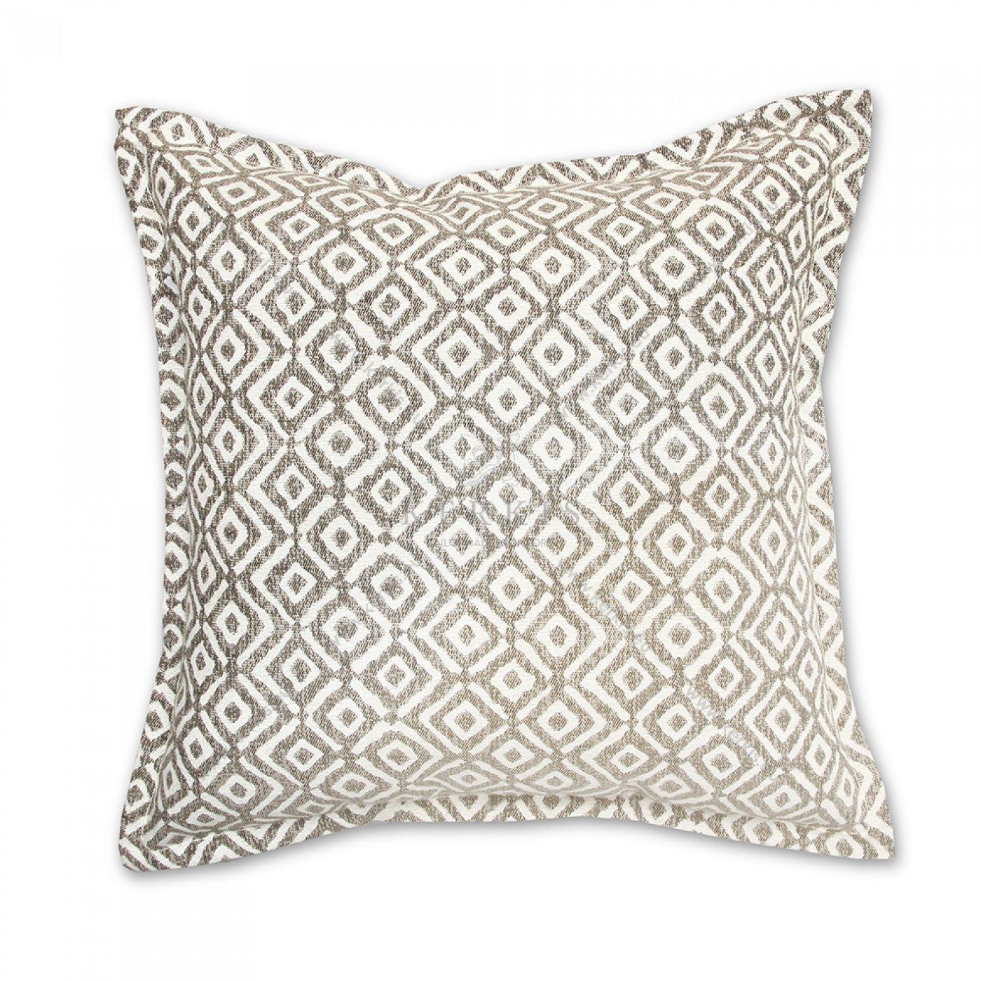 Διακοσμητικό μαξιλάρι καναπέ, χρώμα μπεζ, ρόμβος