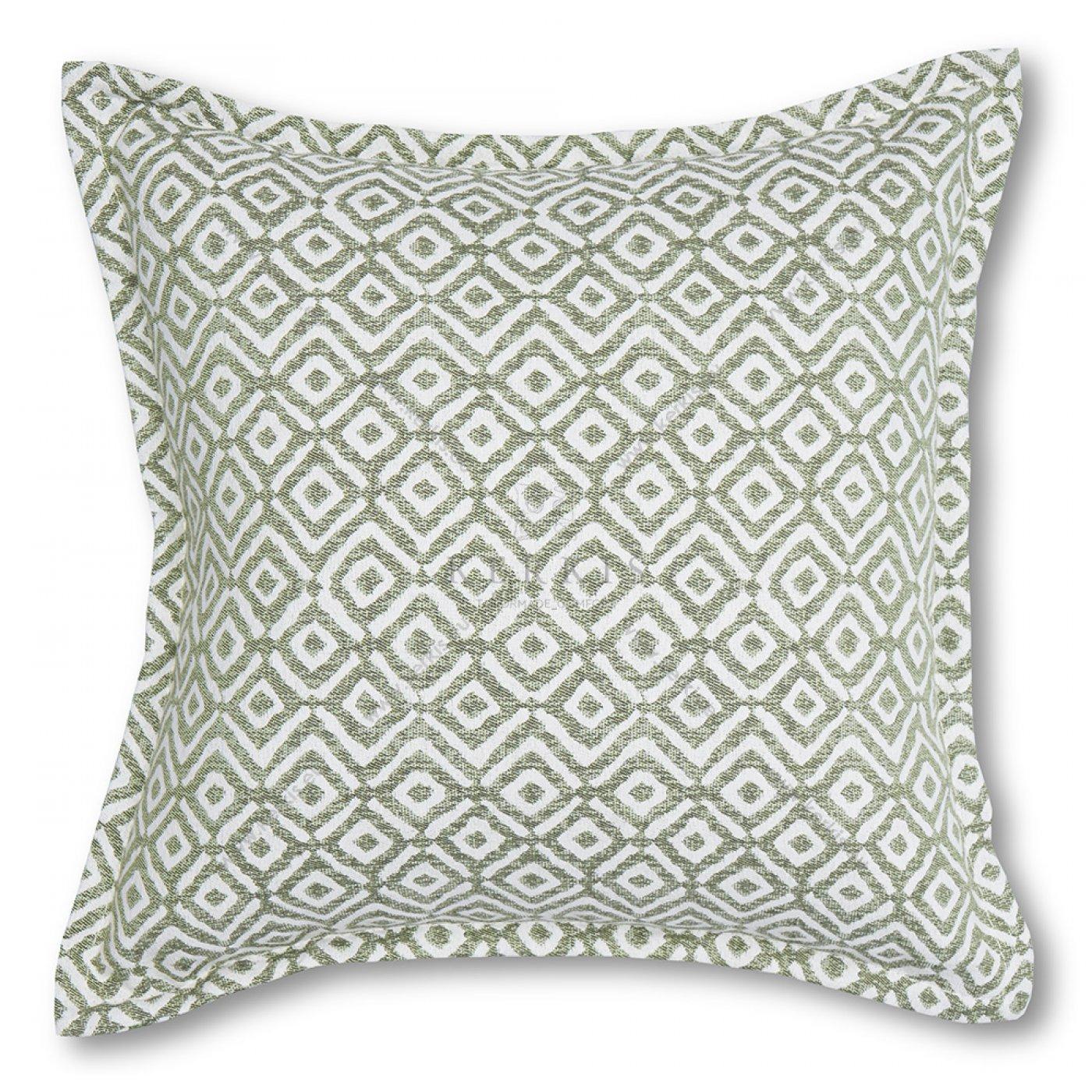 Διακοσμητικό μαξιλάρι καναπέ, χρώμα πράσινο, ρόμβος