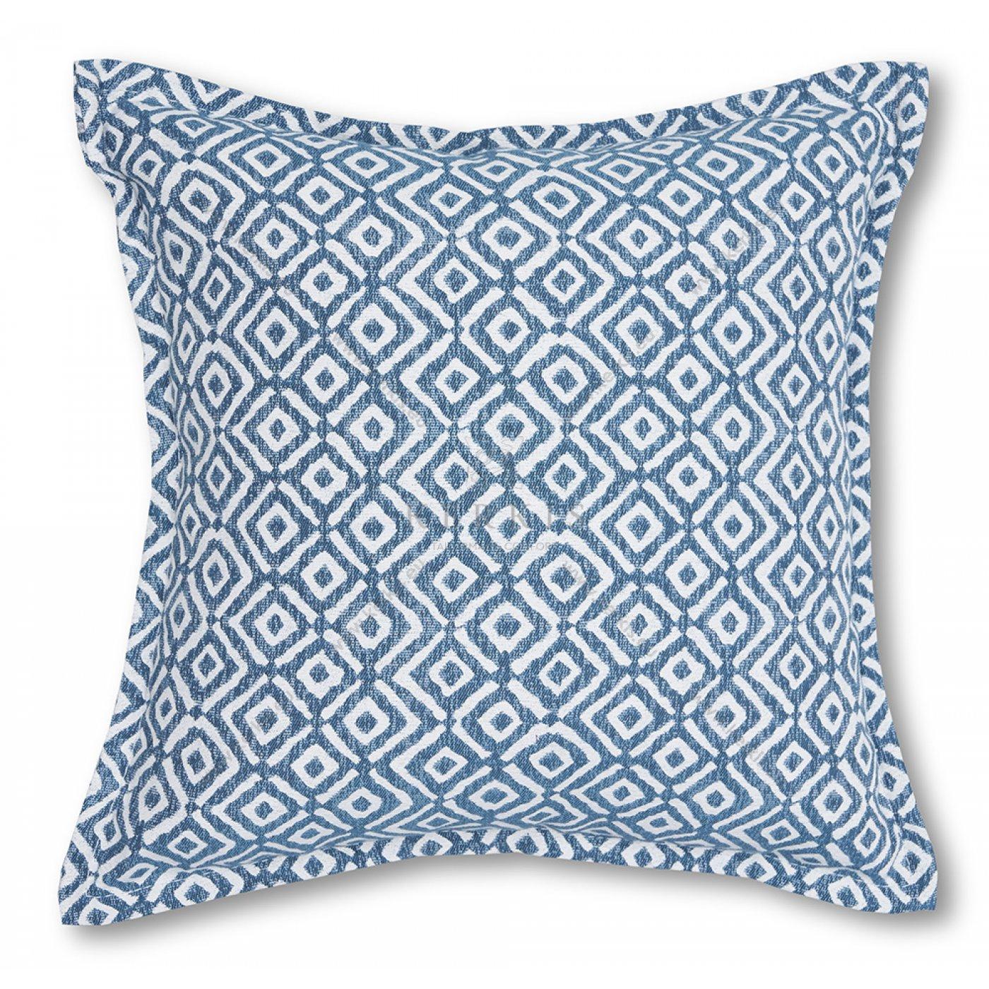 Διακοσμητικό μαξιλάρι καναπέ, χρώμα μπλε, ρόμβος
