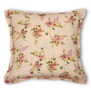 Μαξιλάρι διακοσμητικό καναπέ, χρώμα μπεζ, φλοράλ