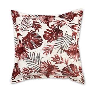 Διακοσμητικό μαξιλάρι καναπέ, χρώμα κόκκινο, φλοράλ