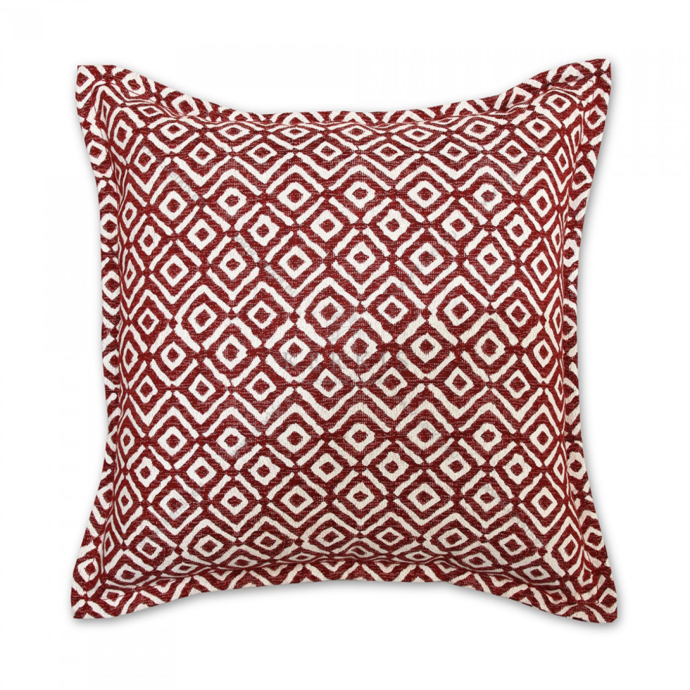 Διακοσμητικό μαξιλάρι καναπέ, χρώμα κόκκινο, ρόμβος