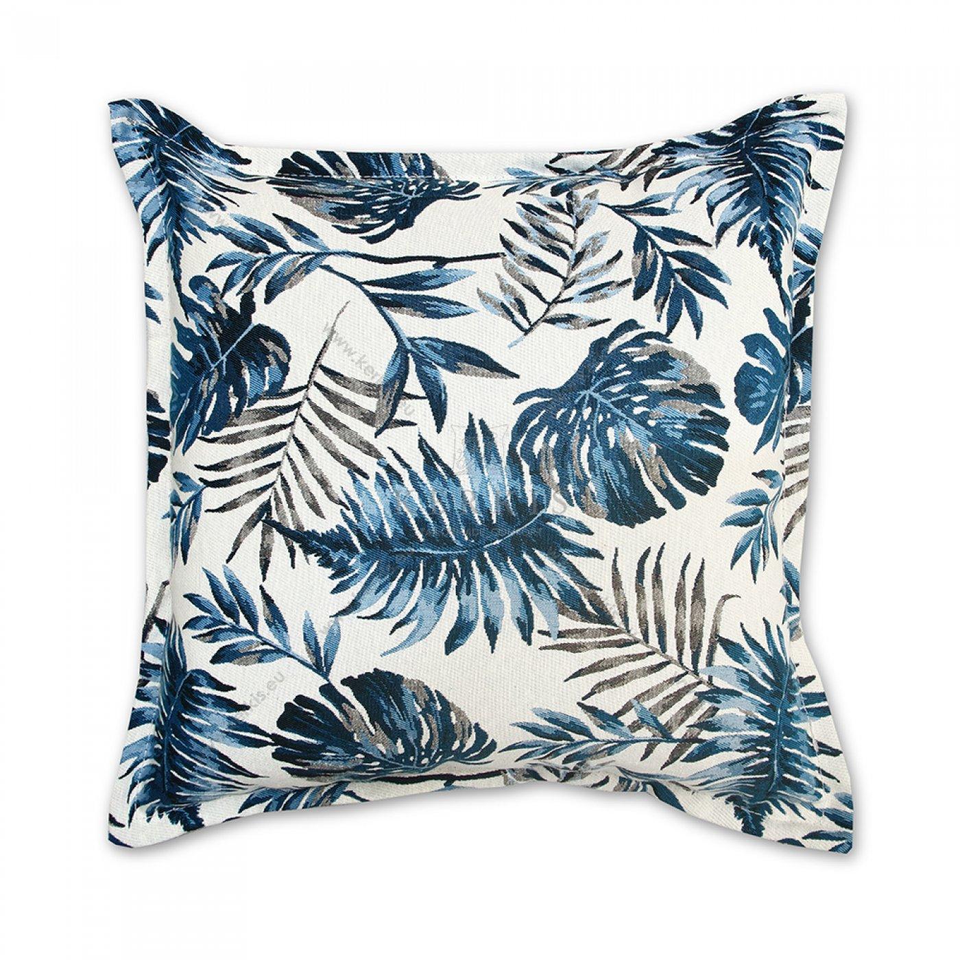 Διακοσμητικό μαξιλάρι καναπέ, χρώμα μπλε, φλοράλ