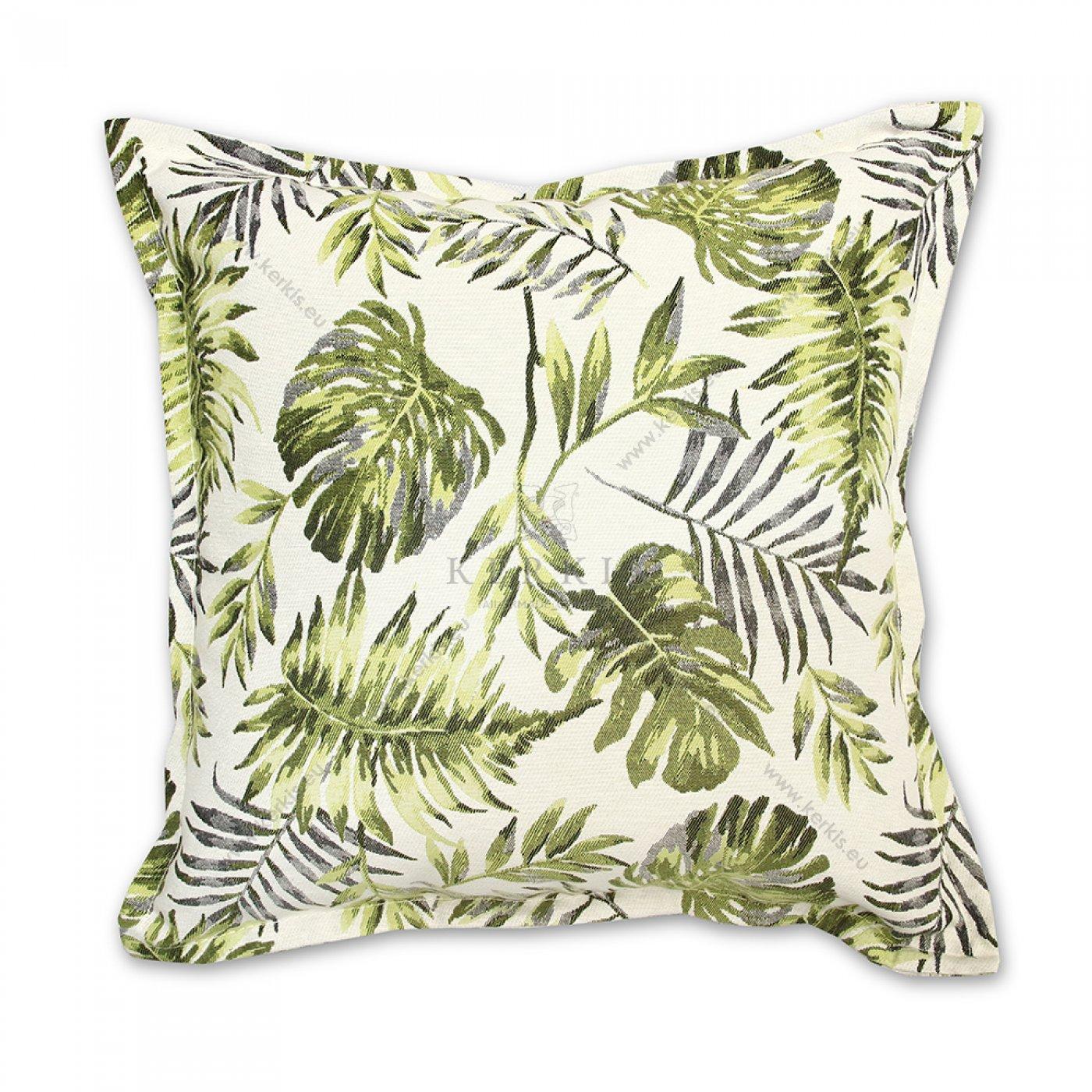 Διακοσμητικό μαξιλάρι καναπέ, χρώμα πράσινο, φλοράλ