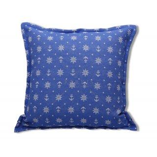 Μαξιλάρι διακοσμητικό με ναυτικά σχέδια μπλε