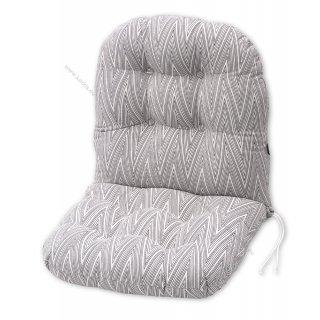 Μαξιλάρια για πολυθρόνες μπαμπού. Ύφασμα ζακάρ γραμμές και σχήματα.