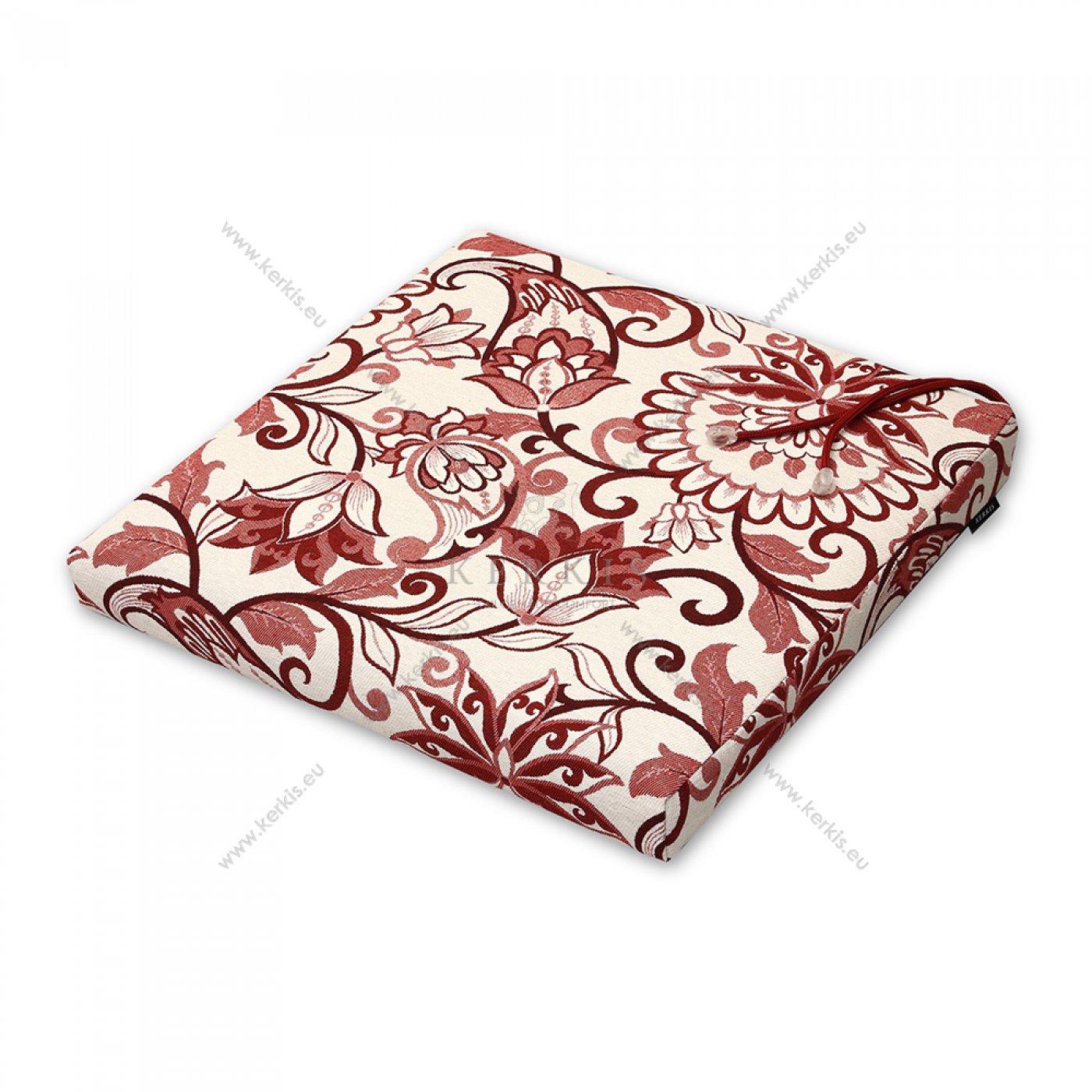 Μαξιλάρι καρέκλας κόκκινο φλοράλ