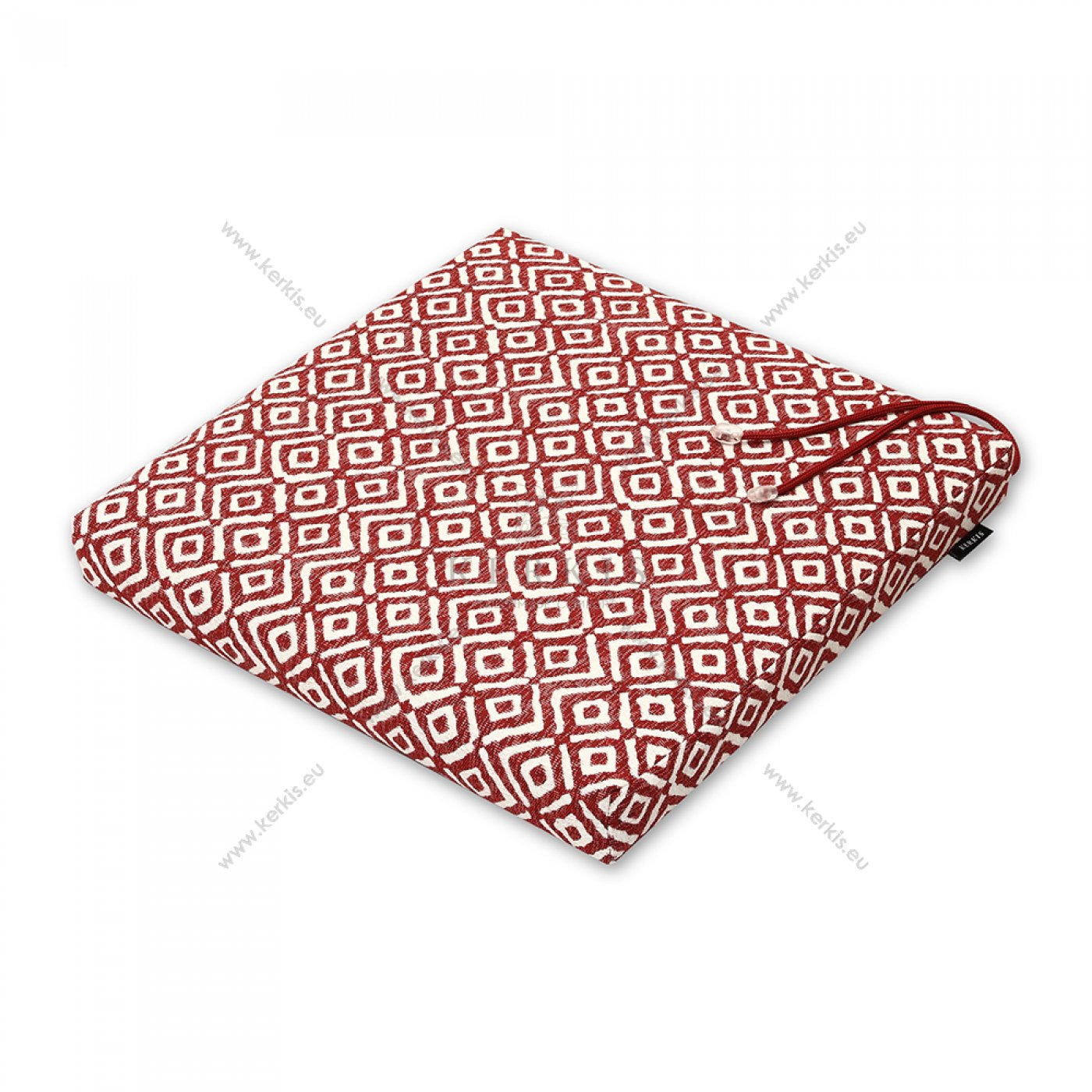 Μαξιλάρι καρέκλας κόκκινο ρόμβος