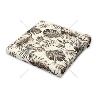 Μαξιλάρι καρέκλας μπεζ φύλλα