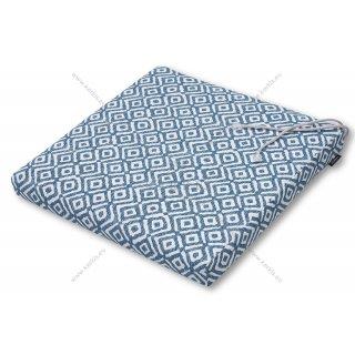Μαξιλάρι καρέκλας μπλε ρόμβος