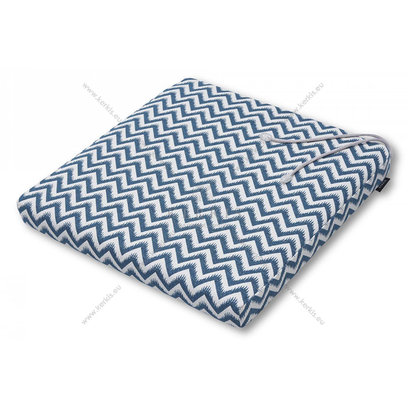 Μαξιλάρι καρέκλας μπλε ζικ-ζακ