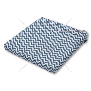 Μαξιλάρι καρέκλας μπλε ζικ ζακ