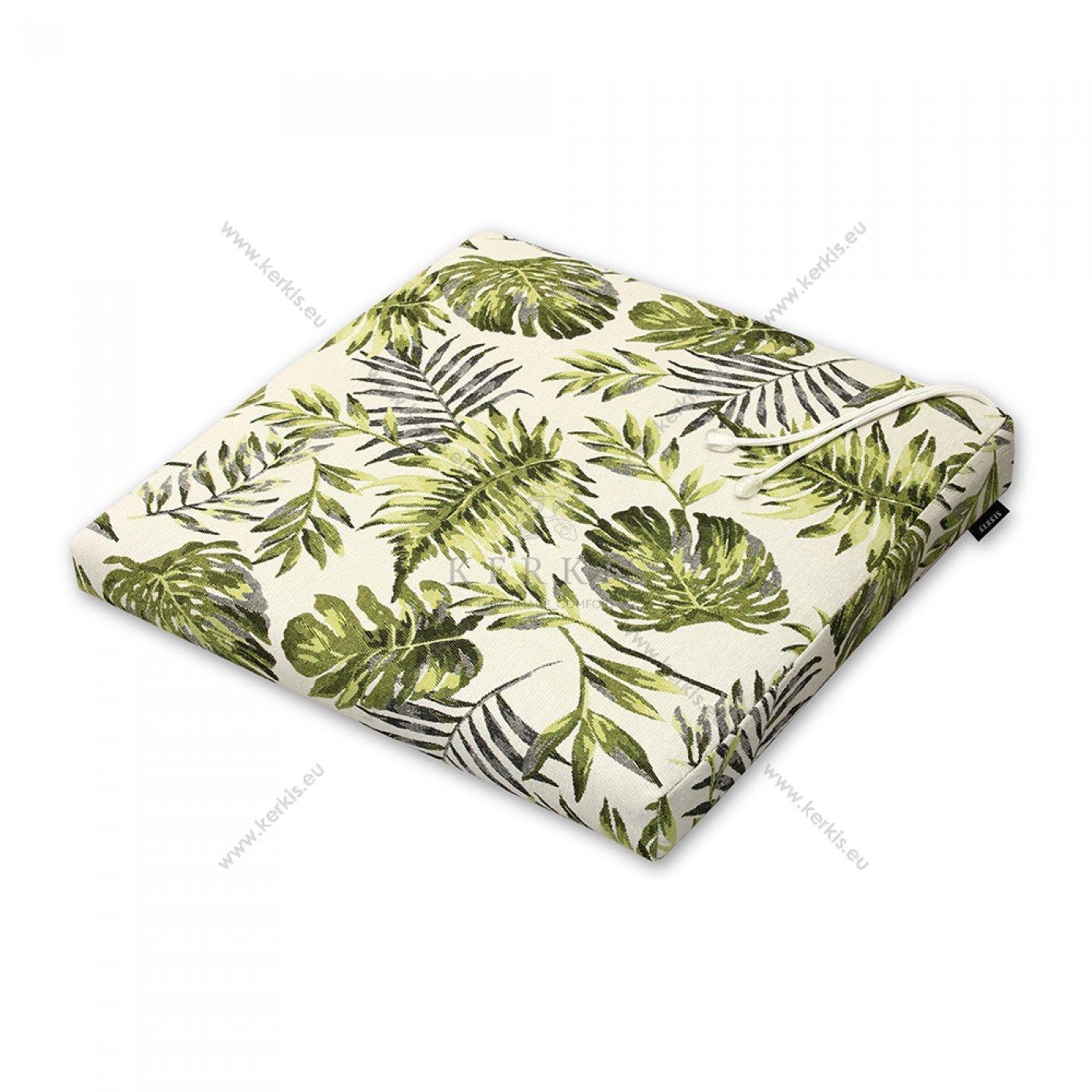 Μαξιλάρι καρέκλας πράσινα φύλλα