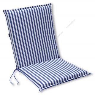 Μαξιλάρι κήπου με πλάτη σε χρώμα Μπλε με ρίγες