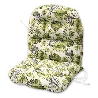Μαξιλάρια για πολυθρόνες μπαμπού. Ύφασμα ζακάρ φύλλα σε 4 αποχρώσεις.